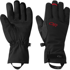 Outdoor Research Ouray Aerogel Gloves Dame Black/Tomato